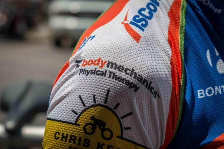 Body Mechanics Logo on Cycling Jersey