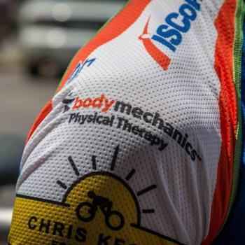 Body Mechanics Logo on Cycling Jersey